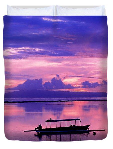 Sunrise Balisanur Indonesia Duvet Cover