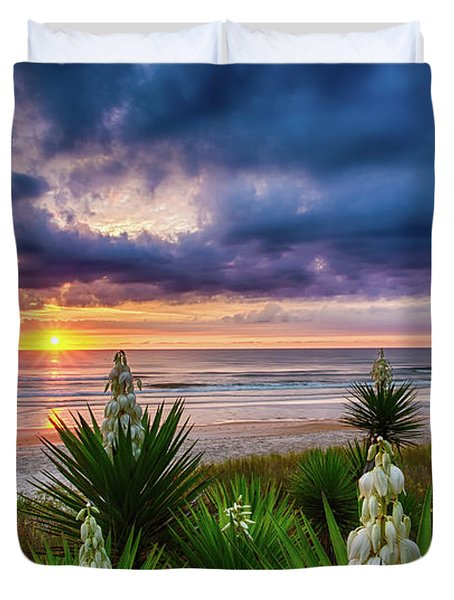 Sunrise Blooms Duvet Cover