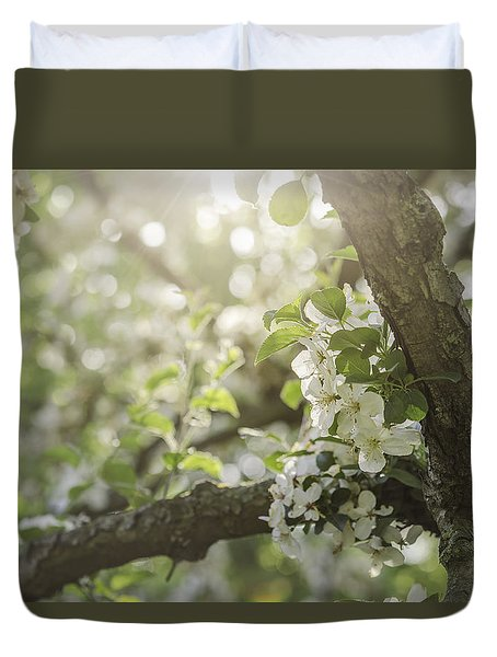 Sunrise Blossoms Duvet Cover