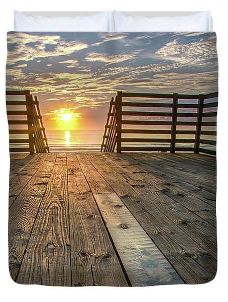 Sunrise Boardwalk Duvet Cover