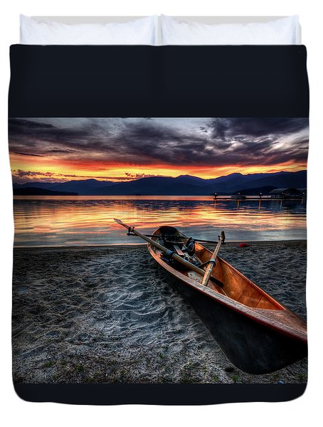 Sunrise Boat Duvet Cover