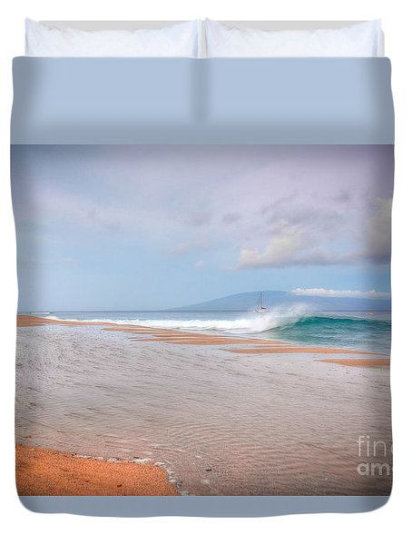 Duvet Cover featuring the photograph Sunrise Break by Kelly Wade