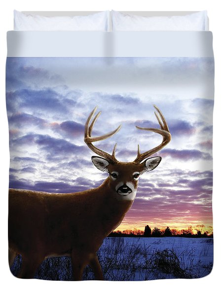 Sunrise Buck Duvet Cover by Barbara Hymer