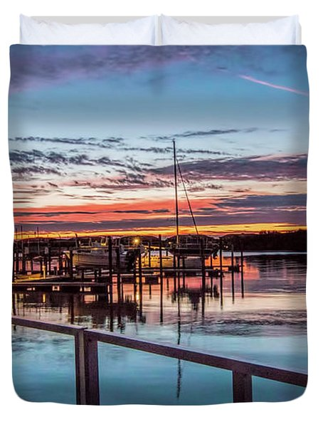 Sunrise Christmas Morning Duvet Cover