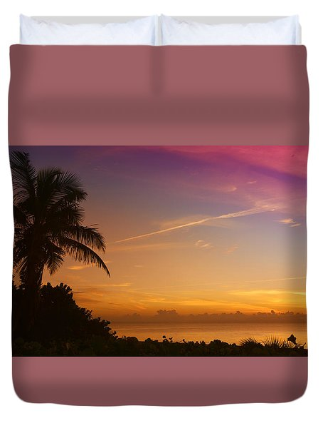 Duvet Cover featuring the photograph Sunrise Color by Don Durfee