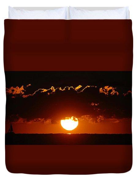 Sunrise Crown Duvet Cover