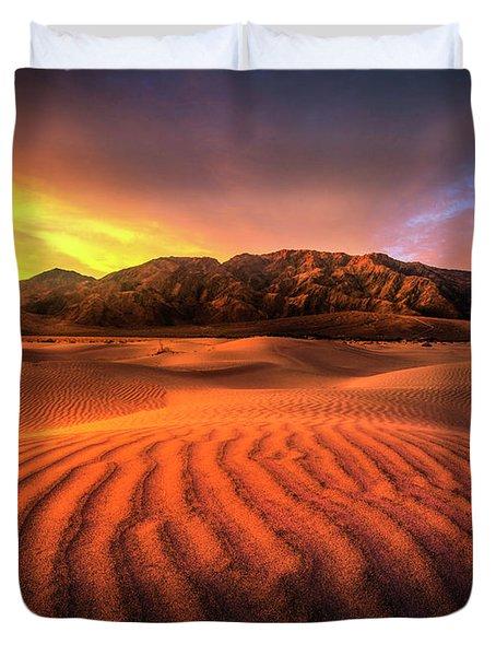 Sunrise-death Valley Duvet Cover