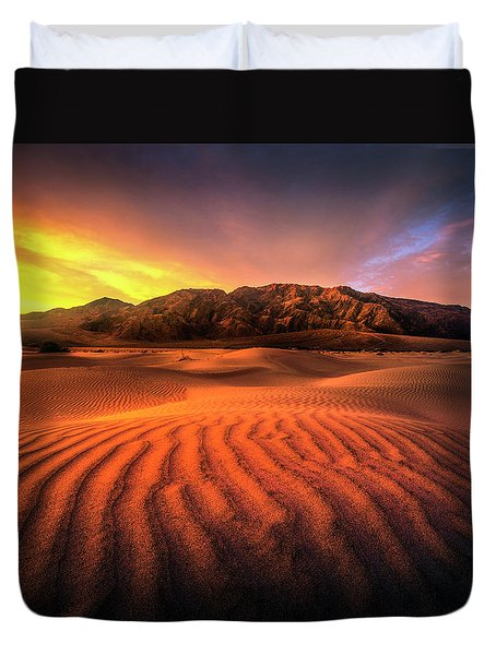 Sunrise-death Valley Duvet Cover