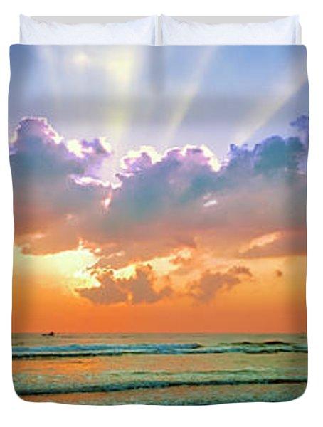 Sunrise East Coast Fl Daytona Beach  Duvet Cover