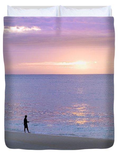 Sunrise Fisherman 2 Duvet Cover