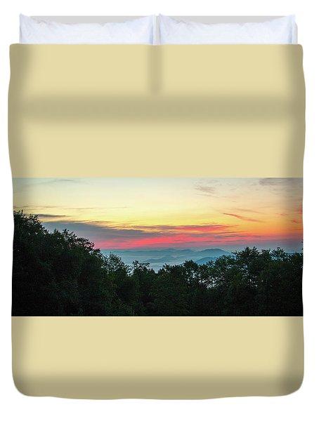 Sunrise From Maggie Valley August 16 2015 Duvet Cover