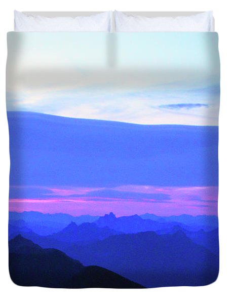 Sunrise From Pilchuck Summit Duvet Cover