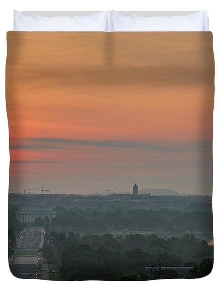 Sunrise From The Arlington House Duvet Cover