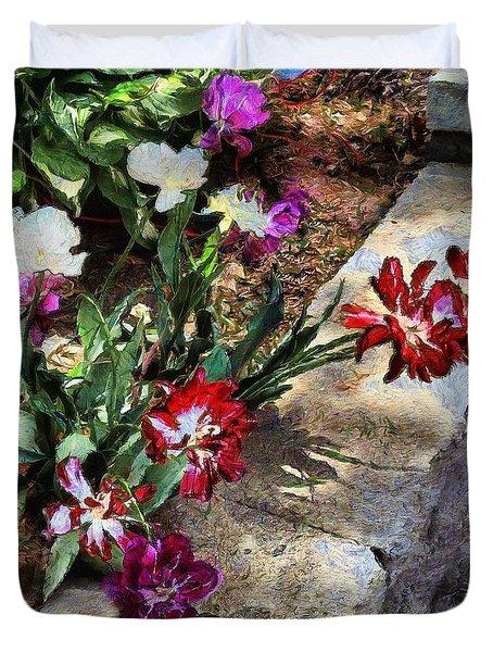 Sunrise Garden Duvet Cover by RC deWinter