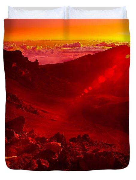 Sunrise Haleakala Duvet Cover