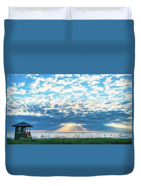 Sunrise Hope Delray Beach Florida Duvet Cover