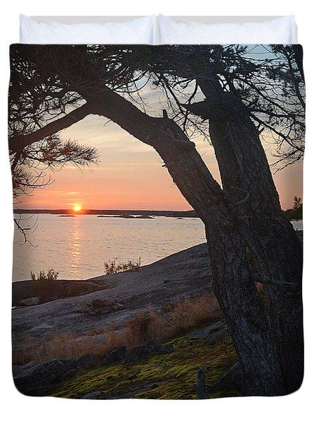 Sunrise Hopewell Island Duvet Cover