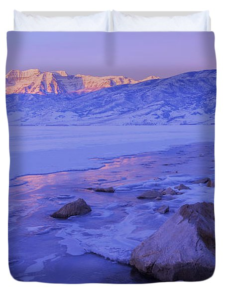 Sunrise Ice Reflection Duvet Cover