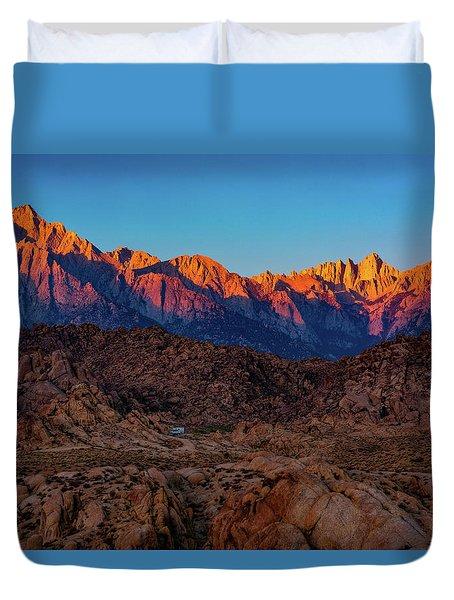 Sunrise Illuminating The Sierra Duvet Cover