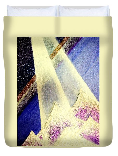 Sunrise  In Alpine Duvet Cover
