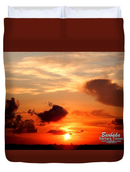 Sunrise In Ammannsville Texas Duvet Cover by Barbara Tristan
