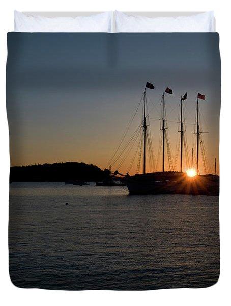 Sunrise In Bar Harbor Duvet Cover
