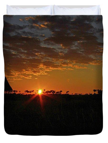Sunrise In Botswana Duvet Cover