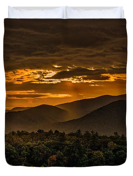 Sunrise In Cades Cove Great Smoky Mountains Tennessee Duvet Cover
