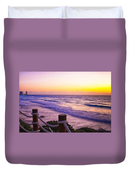 Sunrise In Cancun Duvet Cover