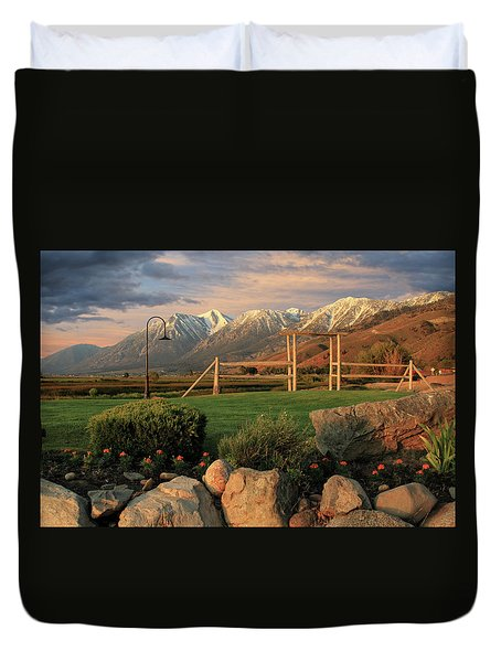 Sunrise In Carson Valley Duvet Cover by James Eddy
