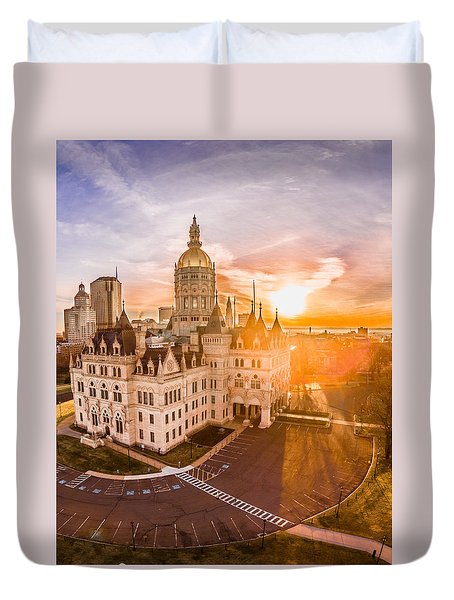 Sunrise In Hartford Connecticut Duvet Cover