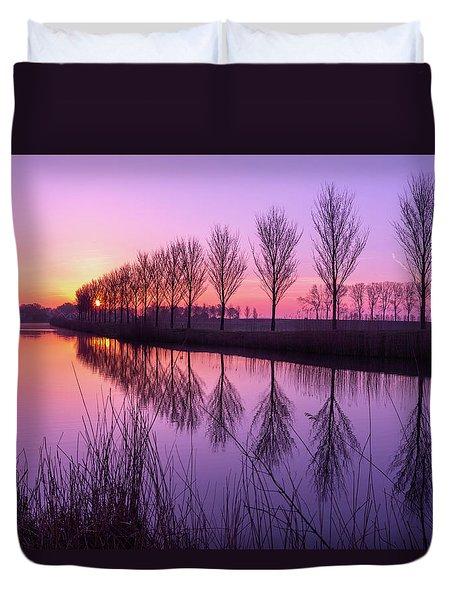 Sunrise In Holland Duvet Cover