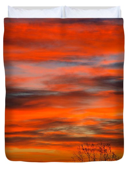 Sunrise In Ithaca Duvet Cover