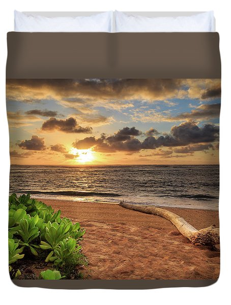 Sunrise In Kapaa Duvet Cover