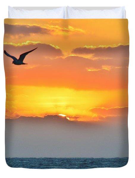 Sunrise In Nags Head Duvet Cover