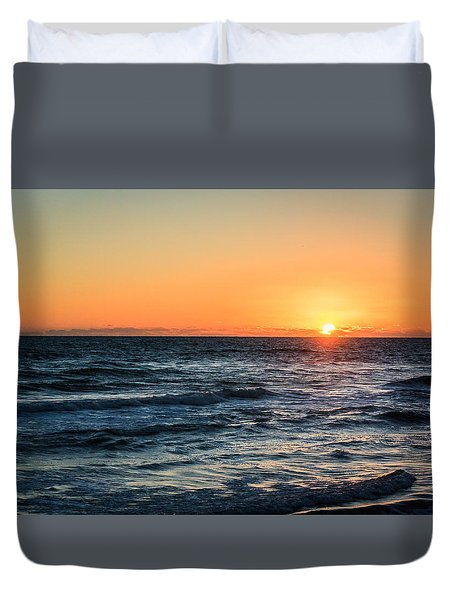Sunrise In Nags Head Duvet Cover