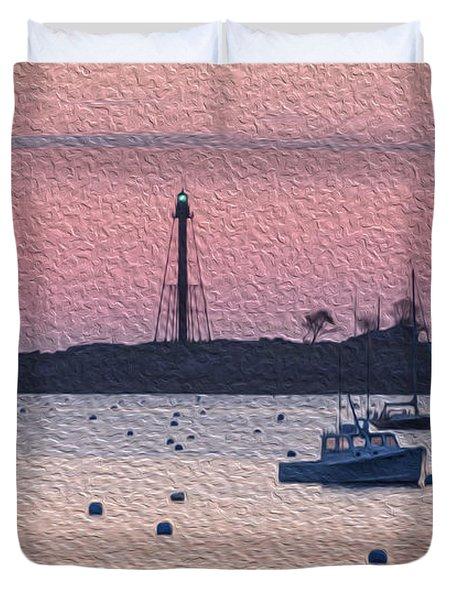 Sunrise In Oils Duvet Cover