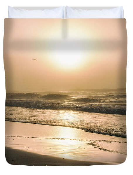 Duvet Cover featuring the photograph Sunrise In Orange Beach  by John McGraw