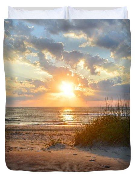 Sunrise In South Nags Head Duvet Cover