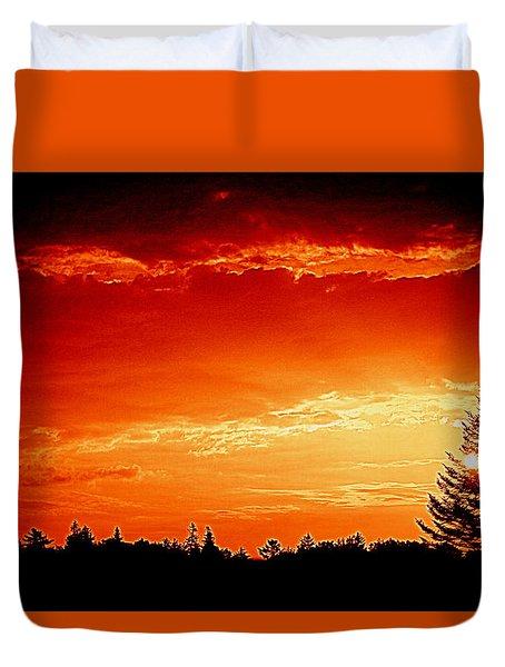 Sunrise In Southport Maine Duvet Cover