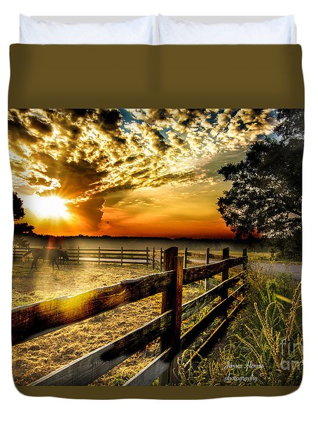 Sunrise In Summer Duvet Cover