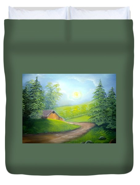 Sunrise In The Country Duvet Cover