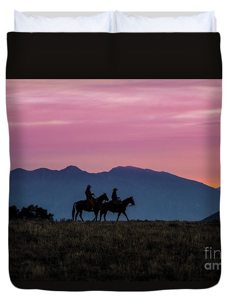 Sunrise In The Lost River Range Wild West Photography Art By Kay Duvet Cover