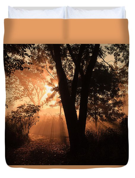 Sunrise In The Marsh 3 Duvet Cover