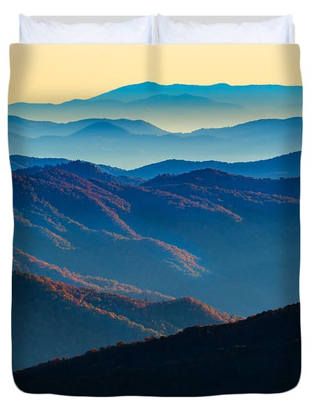 Sunrise In The Smokies Duvet Cover