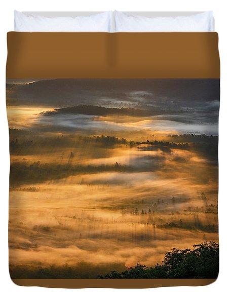 Sunrise In The Valley Duvet Cover