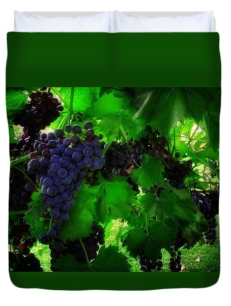 Sunrise In The Vineyard Duvet Cover