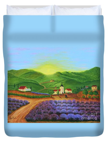 Sunrise In Tuscany Duvet Cover