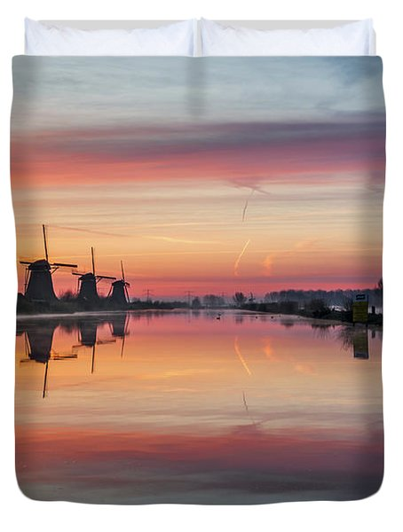 Sunrise Kinderdijk Duvet Cover