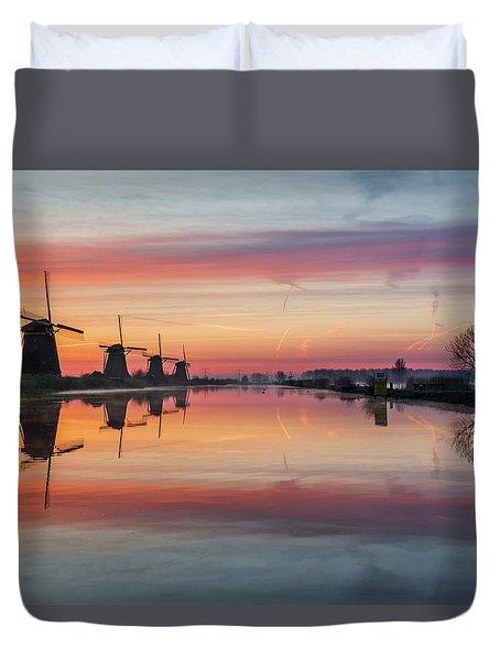 Sunrise Kinderdijk Duvet Cover
